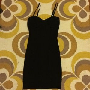 ModCloth Fitted Black Dress - XS